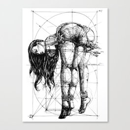 Lady on Table. Workbench. Yury Fadeev. Canvas Print