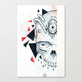 Tek Skull  Canvas Print