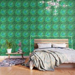Optical Illusion Sphere - Green Wallpaper