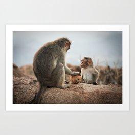 Monkey's Art Print