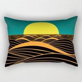 Emerald Sunset Rectangular Pillow