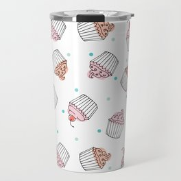 Cupcake Delight Pinks Travel Mug