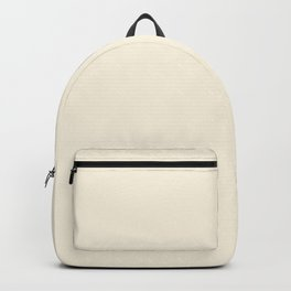 Cream - Solid Color Collection Backpack