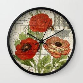 Persian Buttercup Wall Clock