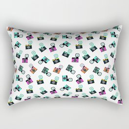 Photography Cameras Pattern Rectangular Pillow