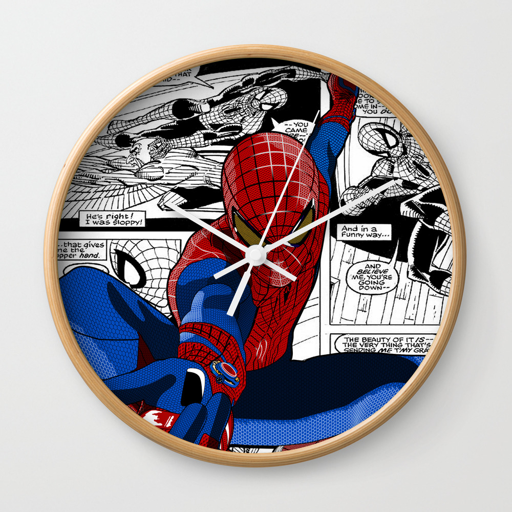 Spider-man Comic Wall Clock by Crhodes23 CLK681773