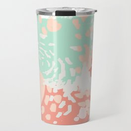 Pippa - Abstract minimal painted pastels painting trendy modern color palette Travel Mug