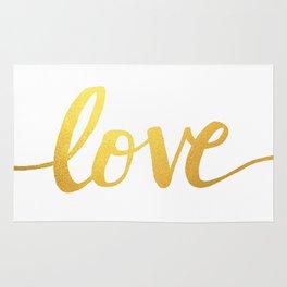 Love Gold Rug