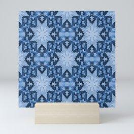 Icy blue snowflakes... Mini Art Print
