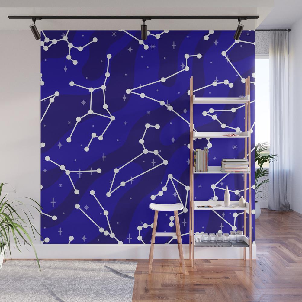 Starlight Star Bright Wall Mural by Dorothytimmer WMP7967943