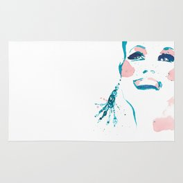 Pretty Fun Thing - Fashion Illustration Rug