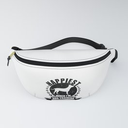 Dog Trainer Happiest When Dog Training Dog Lover Fanny Pack