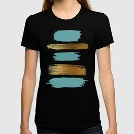 Brush Strokes (Teal/Gold) T-shirt