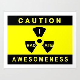 Caution Art Print