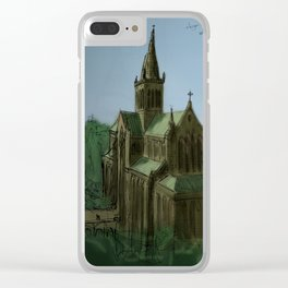 Glasgow Cathedral sketch Clear iPhone Case
