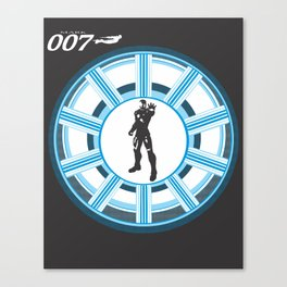 Stark, Tony Stark (James Bond and Iron Man mashup) Canvas Print