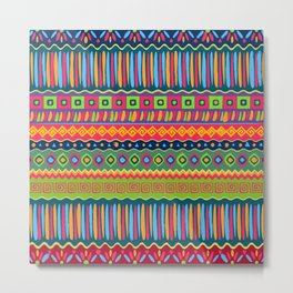 African abstract geometric pattern Metal Print