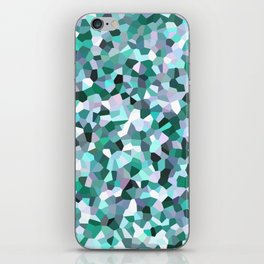 Turquoise Mosaic Pattern iPhone Skin