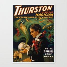 Thurston The Great Magician - Spirits Canvas Print