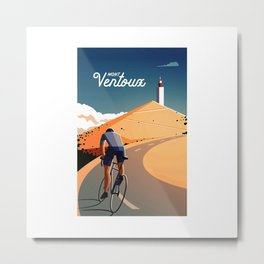 cycling mont ventoux tour de france Metal Print