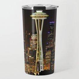 Seattle Space Needle & Cityscape Travel Mug