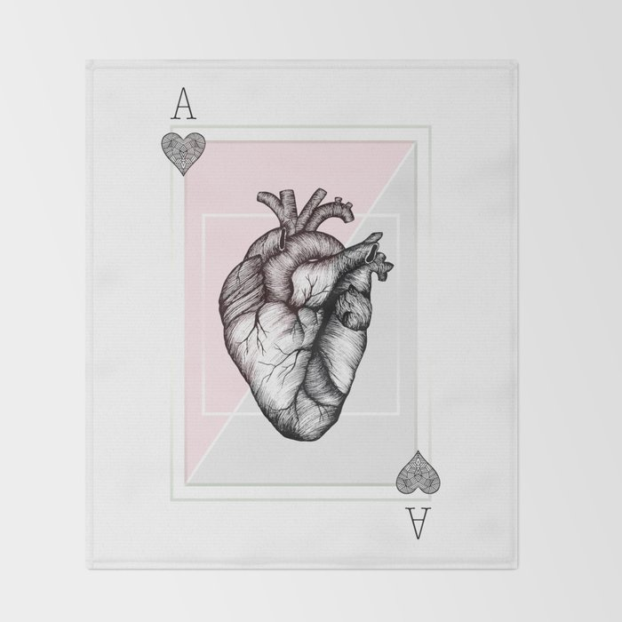 Ace of Hearts Throw Blanket