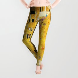 Gustav Klimt The Kiss Leggings