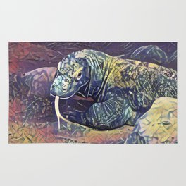 Komodo Dragon Rug