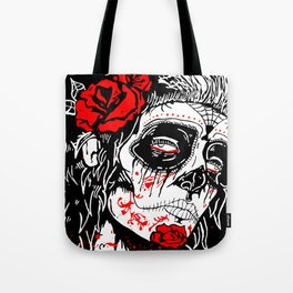 Girl With Sugar Skull, Day of the Dead Tote Bag