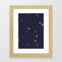 Starry Night Sky Framed Art Print