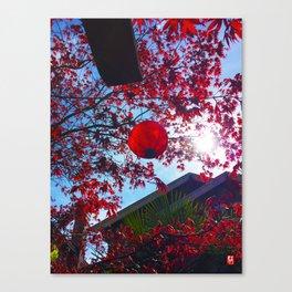 Red Lantan Canvas Print