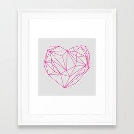 Heart Graphic Neon Version Framed Art Print