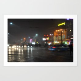 nighttime glow Art Print