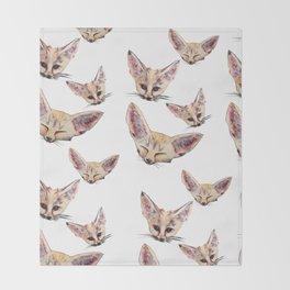 Fennec Foxes Throw Blanket