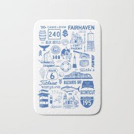 Fairhaven Massachusetts Print Bath Mat