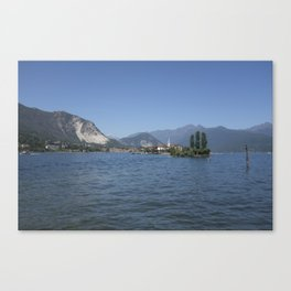 Panoramic view of Fishermen Island on Lake Maggiore, Italy Canvas Print