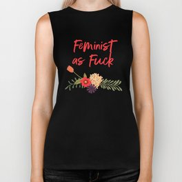 Feminist as Fuck (Uncensored Version) Biker Tank