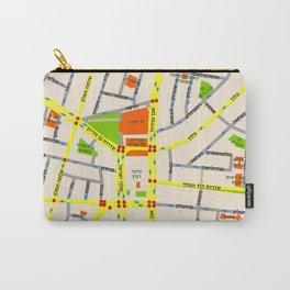 Tel Aviv map design - written in Hebrew Carry-All Pouch