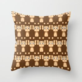 Super cute animals - Cheeky Brown Monkey Throw Pillow