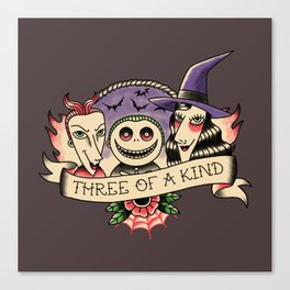 Three of a kind Canvas Print