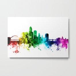 Des Moines Iowa Skyline Metal Print