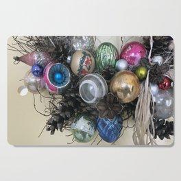 Vintage Ornament Wreath Cutting Board