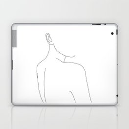 Woman's nude back and shoulders illustration - Alina Laptop & iPad Skin
