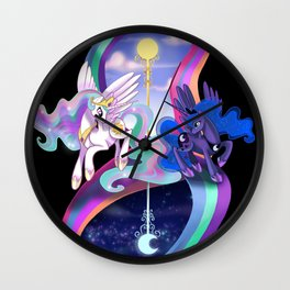 Sun and Moon Sisters Wall Clock