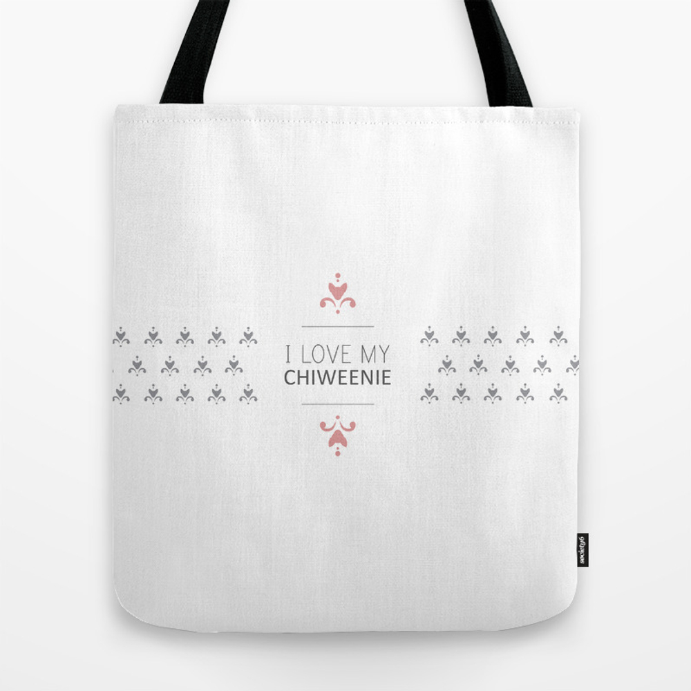 I Love My Chiweenie Boutique Logo Tote Bag by Ilovechiweenies TBG961050