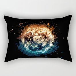 Burning Circle - Fire and Ice - Isolated Rectangular Pillow