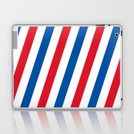 Blue, white and red stripes pattern Laptop & iPad Skin