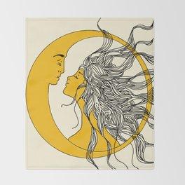 Sun and Moon Throw Blanket