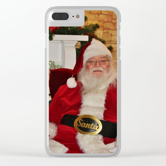 Man In Red Suit Clear iPhone Case