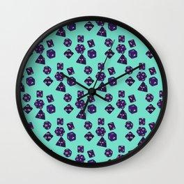 Dice Everywhere - Purple Wall Clock